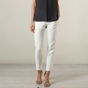 Vince Pants - Vince Satin binding trousers in chalk sz 0 NWT